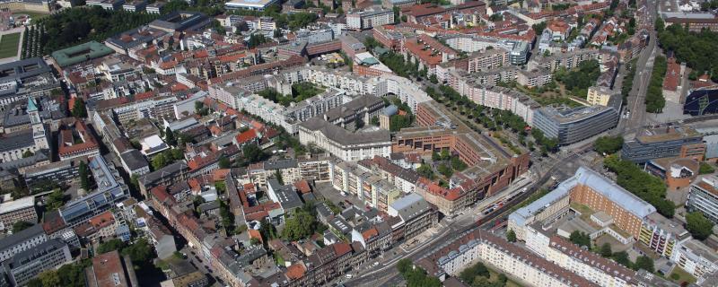 Luftbild Innenstadt Ost, Stadt Karlsruhe (Fränkle)