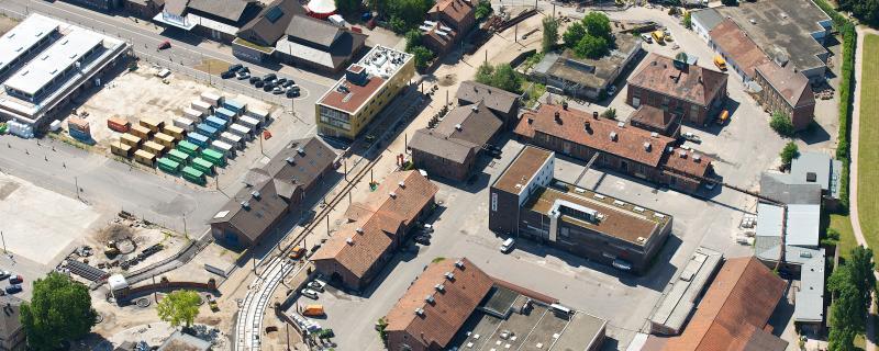 Alter Schlachthof Karlsruhe Luftbild 2012. Bildrecht: Tema Medien