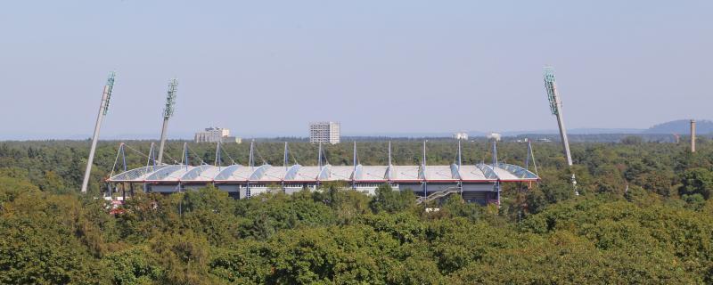 Fußballstadion im Wildpark