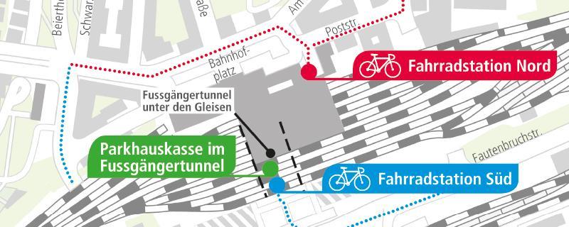 Lageplan Fahrradstationen